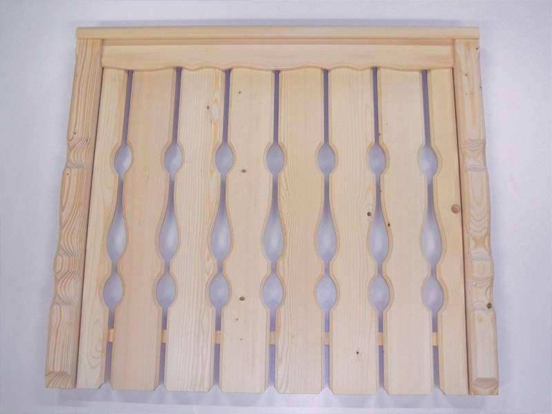 oblikovani leseni elementi za ograjo