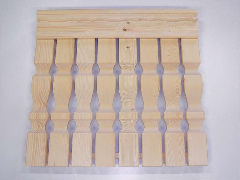 leseni oblikovani elementi za ograjo