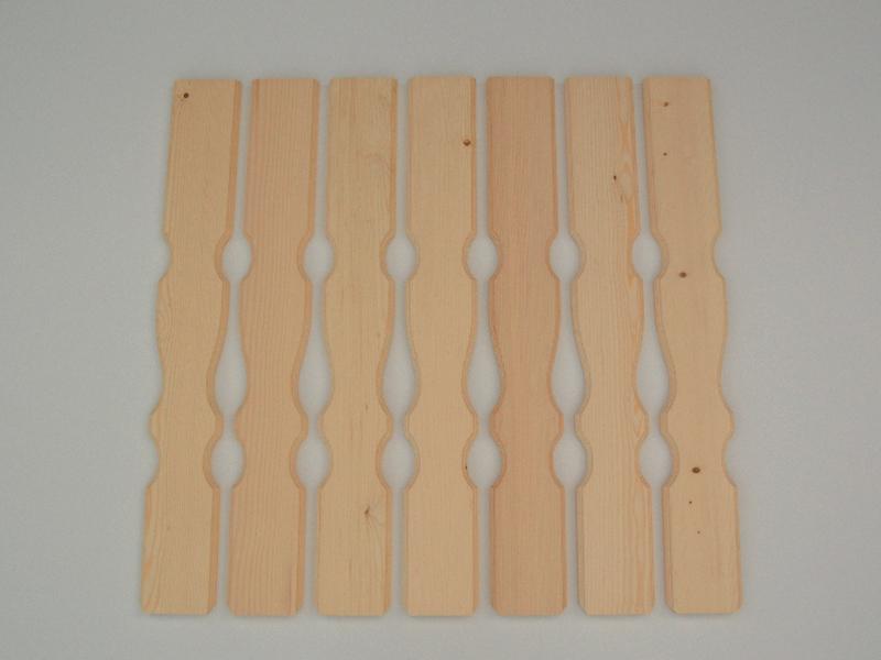 Lesena pobrušena ograjna deska z vzrocem