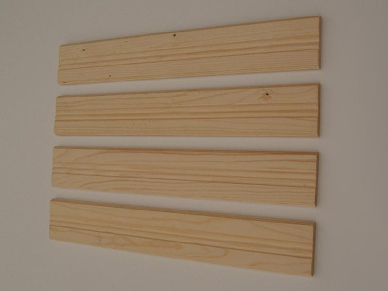 oblikovane lesene deske za vzdolžne ograje