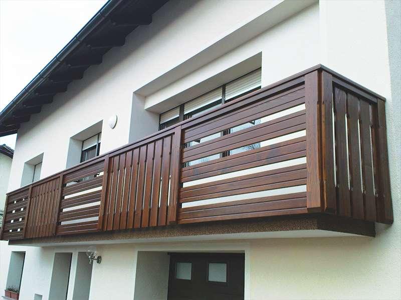 kombinirana rjava balkonska ograja domžale