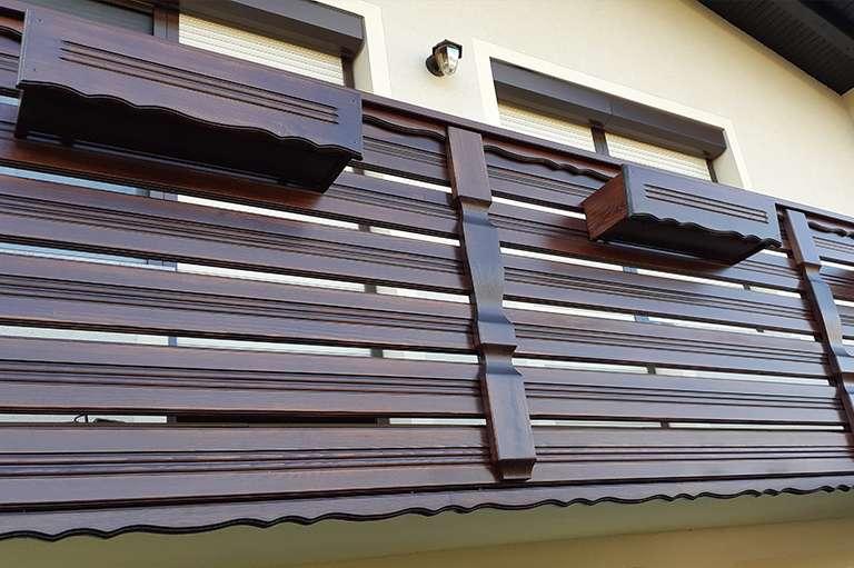 Postavitev vzdolžne balkonske ograje